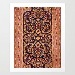Oriental Heritage Rug Artwork C18 Art Print