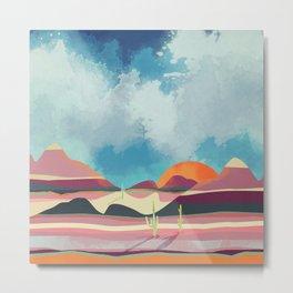 Pink Desert Glow Metal Print