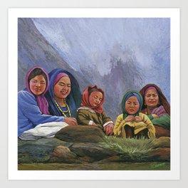 Himalayan Tribals Art Print