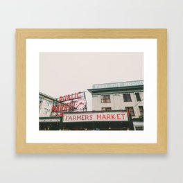 Pikes Place- Seattle Framed Art Print