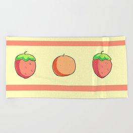 Strawberries and Oranges Beach Towel