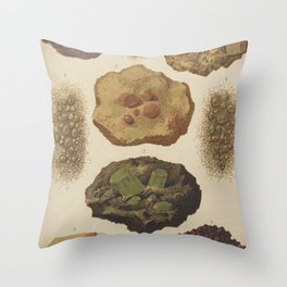 Gems And Minerals Throw Pillow