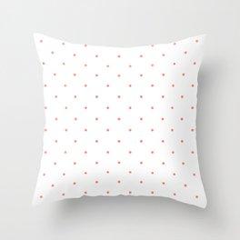 Pink Polka Dots Throw Pillow