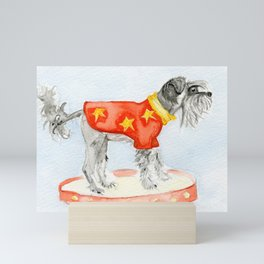 Starry Scruffy Schnauzer Mini Art Print