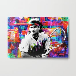 Game, Set, Mullet: Andre Agassi Metal Print