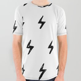 Lightning Bolt Pattern All Over Graphic Tee