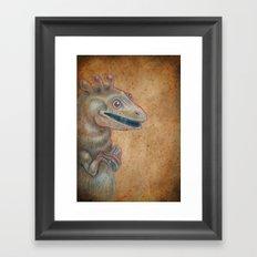 Medieval monster XVII Framed Art Print