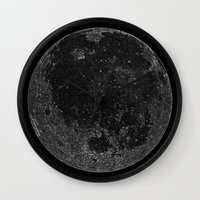 titan Wall Clocks featuring Titan by Tobias Bowman