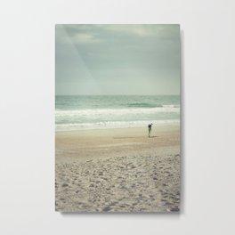 Wrightsville Beach Surfer Metal Print