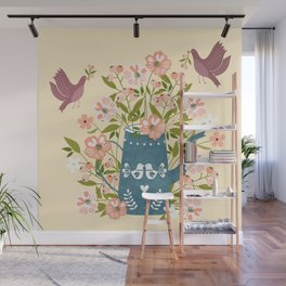 Happy Birds Making Things Beautiful Together Wall Mural