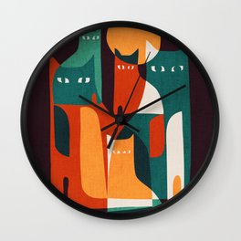 Cat Family Wall Clock
