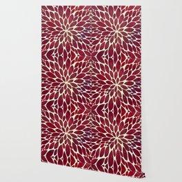 Petal Burst - Maroon Wallpaper