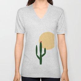 cactus design  Unisex V-Neck