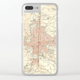 Vintage Map of Colorado Springs CO (1951) Clear iPhone Case