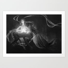 Asrai and Lyra Art Print