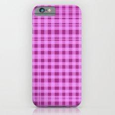 Purple Checkers. iPhone 6s Slim Case