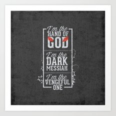 Iam the hand of God - Typography Art Print