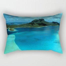 Bora Bora Lagoon Aerial Rectangular Pillow