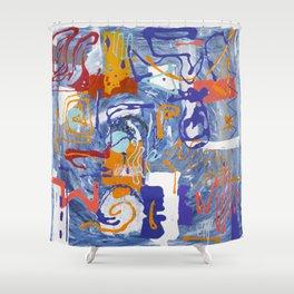 Shamanic Painting 01 Shower Curtain