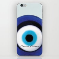 evil eye iPhone & iPod Skins featuring Evil Eye by SalbyN
