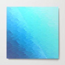 Turquoise Blue Texture Ombre Metal Print