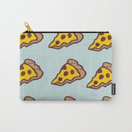 Pizza Pattern with Teal Background Carry-All Pouch