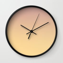 GRADUAL PATHS - Minimal Plain Soft Mood Color Blend Prints Wall Clock