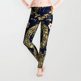 Art Nouveau Floral Pattern Leggings