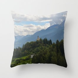 A glimpse through the forest Throw Pillow