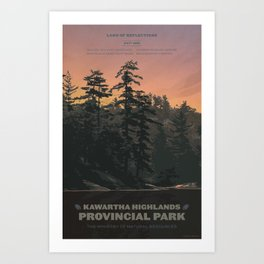 Kawartha Highlands Provincial Park Art Print