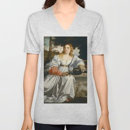 "Titian (Tiziano Vecelli) ""Sacred and Profane Love"" (1), 1515-1516 Unisex V-Neck"