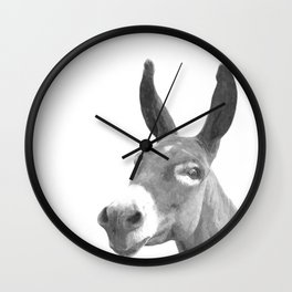 Black and white donkey Wall Clock