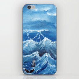 Swim the storm iPhone Skin