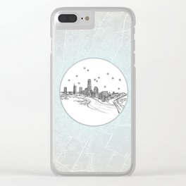 Austin, Texas City Skyline Illustration Drawing Clear iPhone Case