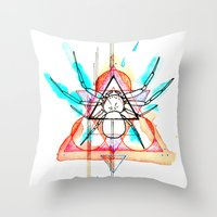 mother Throw Pillows featuring MOTHER by SLEEP MUSCLE