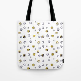 Dice, Daisies, and a lot of Skulls Tote Bag