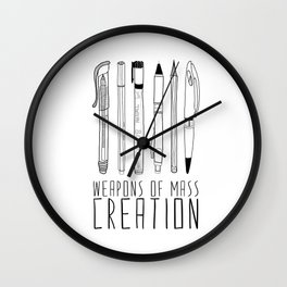 weapons of mass creation Wall Clock
