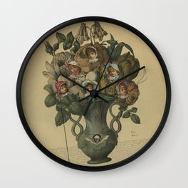 Crooked Bouquet Wall Clock