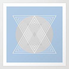 Everything belongs to geometry #7 Art Print