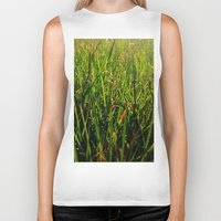 grass Biker Tanks featuring Grass by Efua Boakye