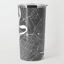 Jersey City USA Modern Map Art Print Travel Mug