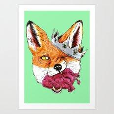 Queen Fox You Have My Heart Art Print