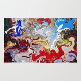 Qiumentino - birth of colours Rug
