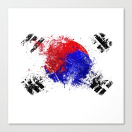 Flag brush Canvas Print