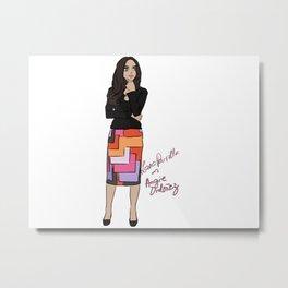 Lana Parrilla as Angie Ordonez (Spin City TV Show) Metal Print