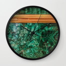 Malachite Box 3 Wall Clock