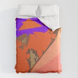 Look Ma! Purple Lights Ahead Comforters