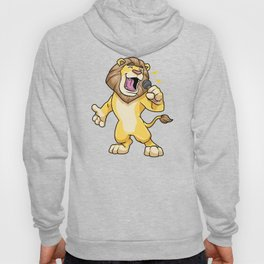 Lion as Singer with Microphone Hoody