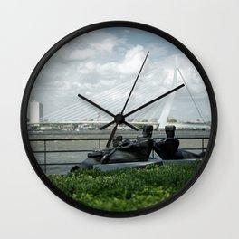 Afternoon in Rotterdam Wall Clock
