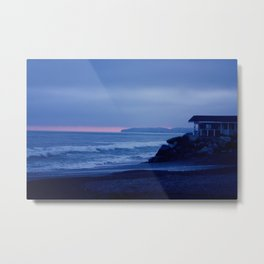 Fading Blue Light Metal Print